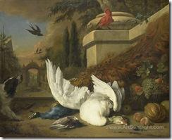 een-hond-bij-een-dode-gans-en-een-pauw-by-Jan-Weenix-II-009