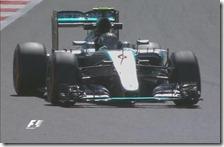 Nico Rosberg nelle prove libere del gran premio di Gran Bretagna 2015