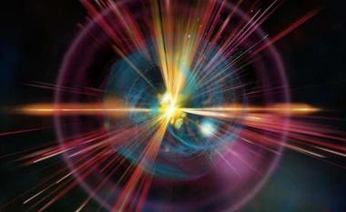 ilustração de um monopolo no campo quântico
