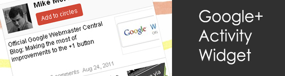 Google+ Activity Widget - jQuery Plugin
