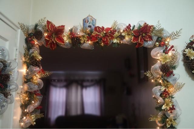 Guirnalda navidea decoracion navidad estilo americano for Puertas decoradas con guirnaldas