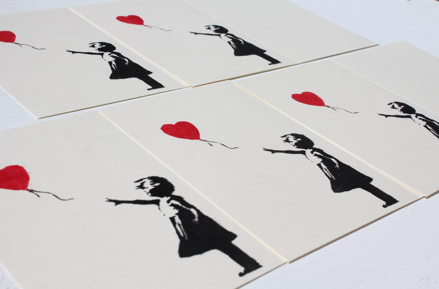 ivory cards with black and