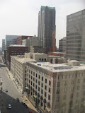 The view of downtown St Louis from our hotel room window 03192011