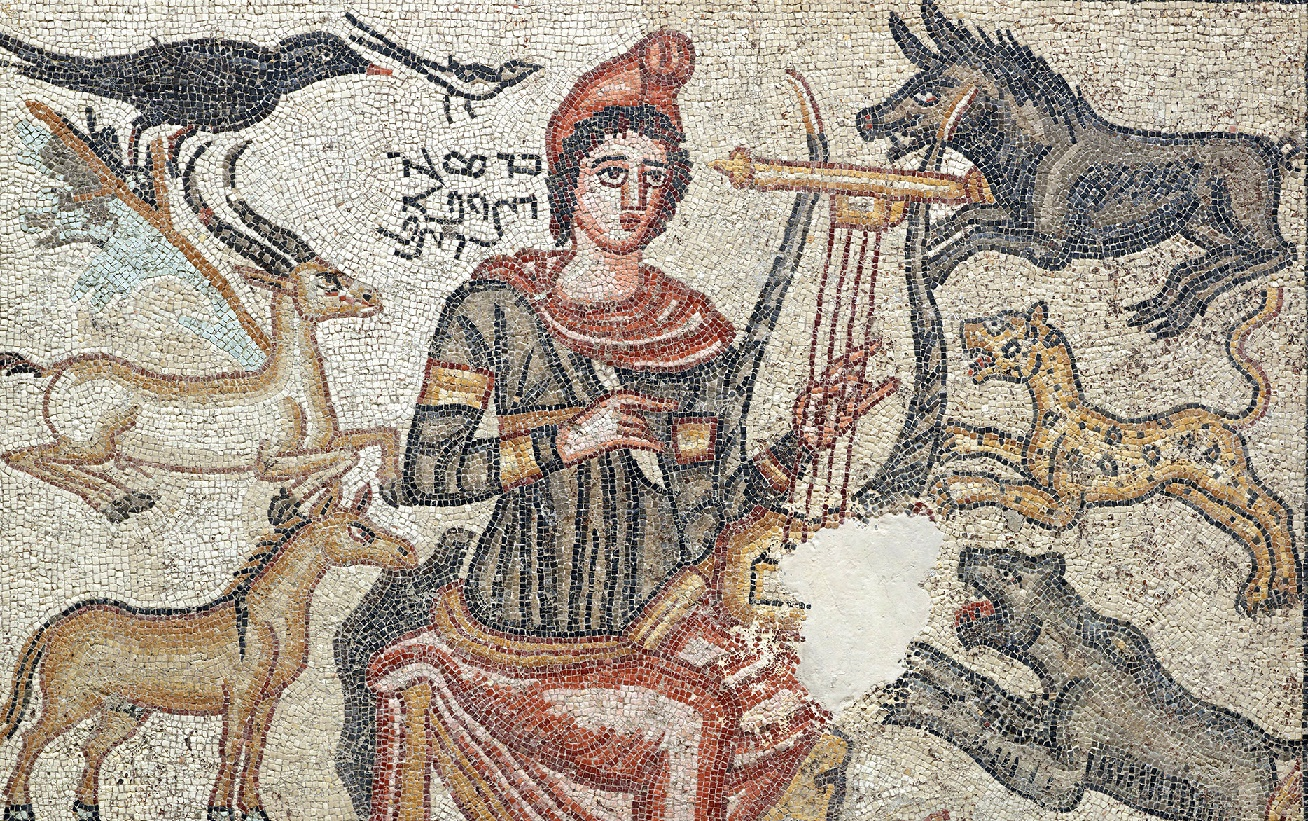 Orpheus Mosaic on display at the Istanbul Archaeology Museum