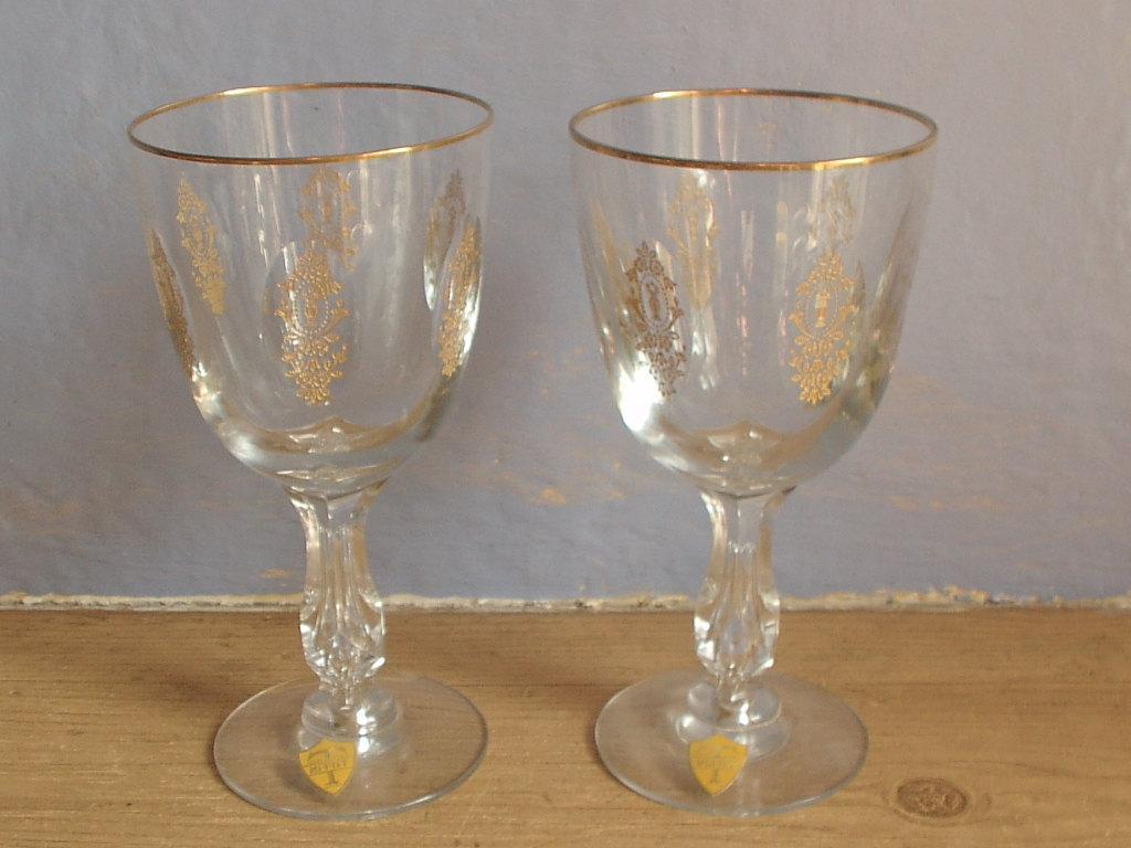 vintage wedding goblets