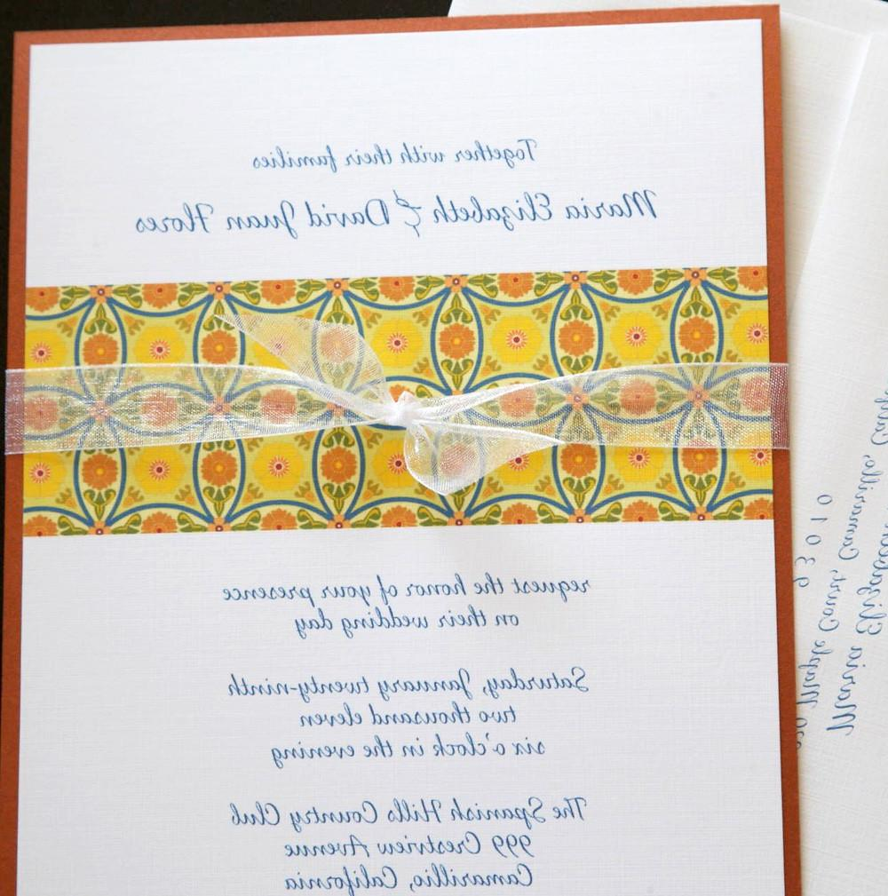 Talavera Tile Pattern Wedding