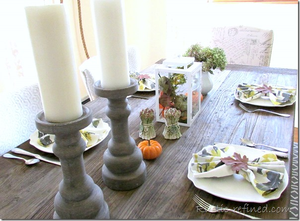 Autumn Dining Tablescape