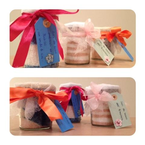 Sali da bagno fatti in casa come regalo i cosmetici - Sali da bagno colorati ...