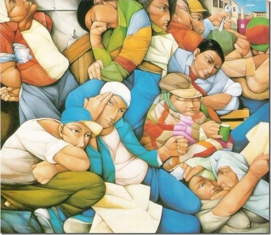 los desocupados-Pablo-Solari-ENKAUSTIKOS