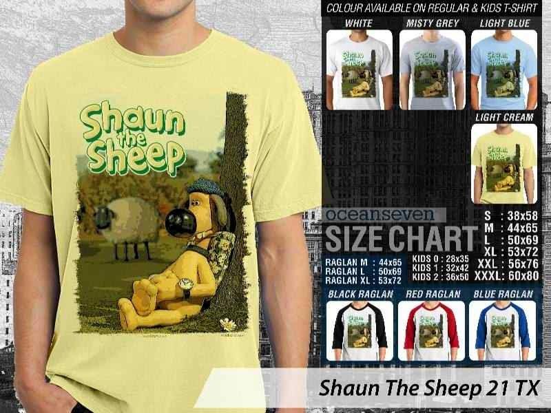 Kaos Movie Shaun The Sheep 21 distro ocean seven