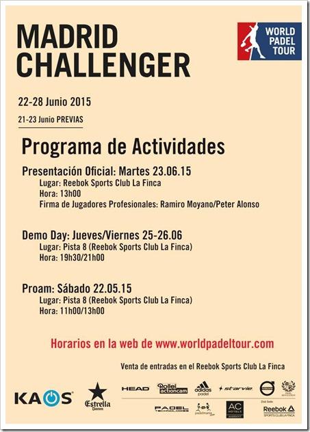 PROGRAMA Reebok Sports Club La Finca el Madrid Challenger by Kaos.
