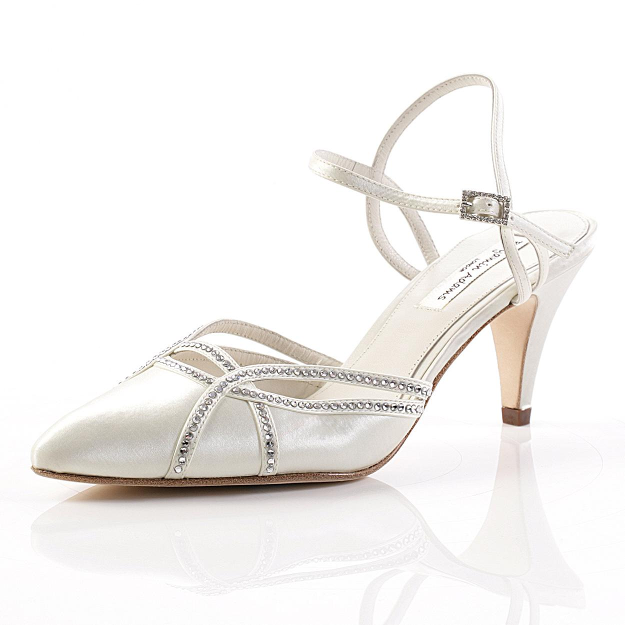 Naomi Mid Heel Bridal Shoes