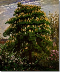 the-chestnut-tree-in-blossom-1906