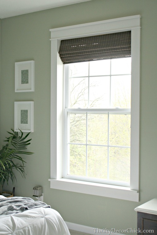 Trim makes the difference from thrifty decor chick for How to paint wood windows interior