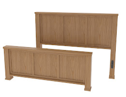 Matching Furniture Piece: Parsons Bed Frame in Lexington Oak