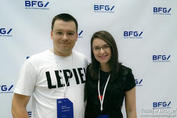 Kasia i Maciej Marczewscy na Blog Forum Gdańsk 2015