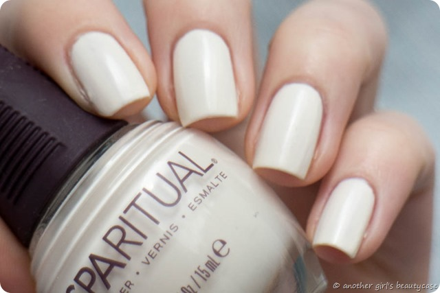 LFB Beige Creme Spa Ritual Optimistic matte shimmer swatch vegan nailpolish