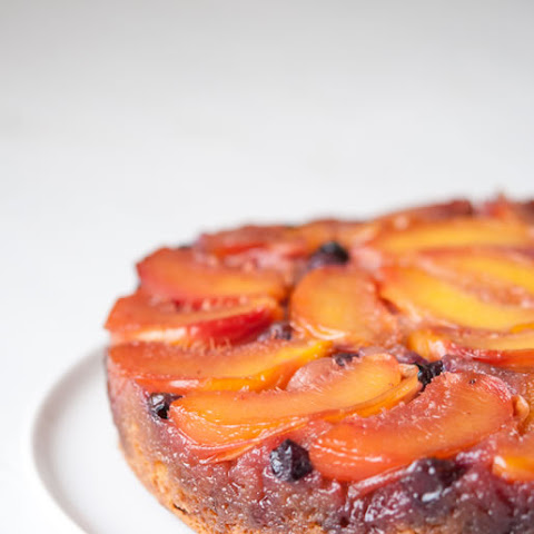 Nectarine-Blueberry Upside Down Cake