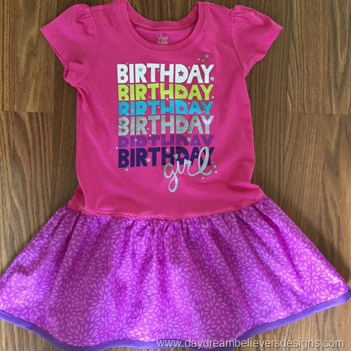www.daydreambelieversdesigns.com Upcycled Birthday Tshirt dress