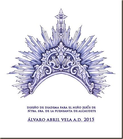 diseño de diademas para el niño jesus de la virgen de la fuensanta de alcaudete patrona ayuntamiento alvaro abril 2015