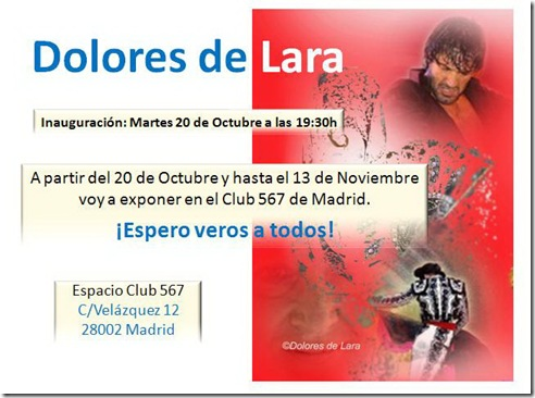 Expo Maneras de Sentir Dolores de Lara