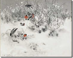 Bruno_Liljefors_-_Winter_landscape_with_bullfinches_1891