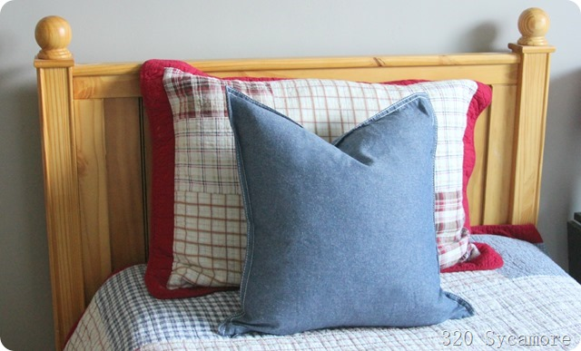 ikea pillow cover with thrift store down insert