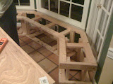 Building a window seat bench for Beth