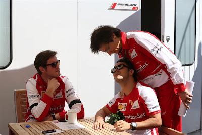 Роб Смедли, Фелипе Масса и Массимо Ривола на Гран-при Канады 2013