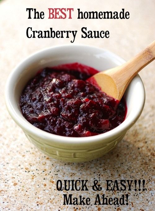 The best cranberry sauce