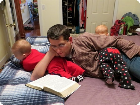 Ben Babysitting the Twins