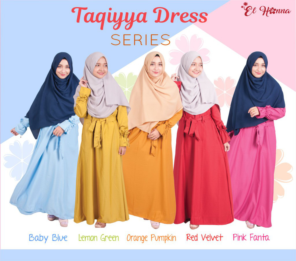 4. El Hanna Hijab Taqiyya Dress Baby Blue