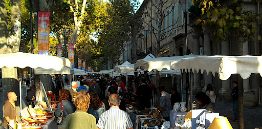 Art market in Aix-en-Provence, France