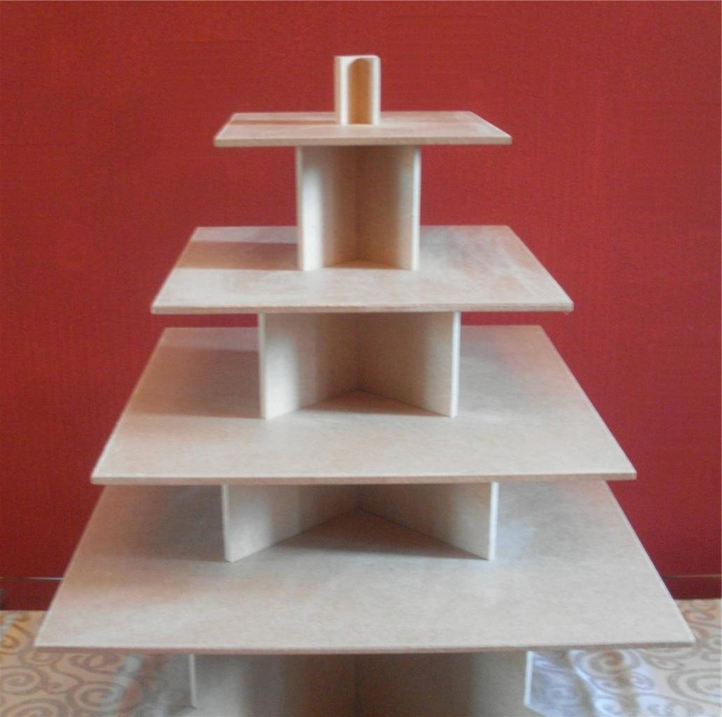 Marquise s blog 4 TIER SQUARE CUPCAKE PARTY WEDDING CAKE