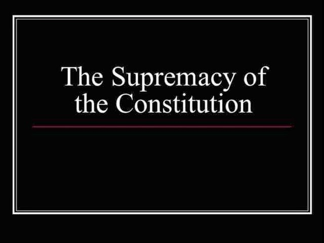 concept of constitutional supremacy