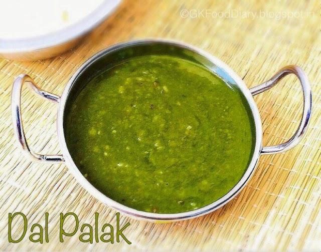 Dal Palak /Palak Dal Recipe