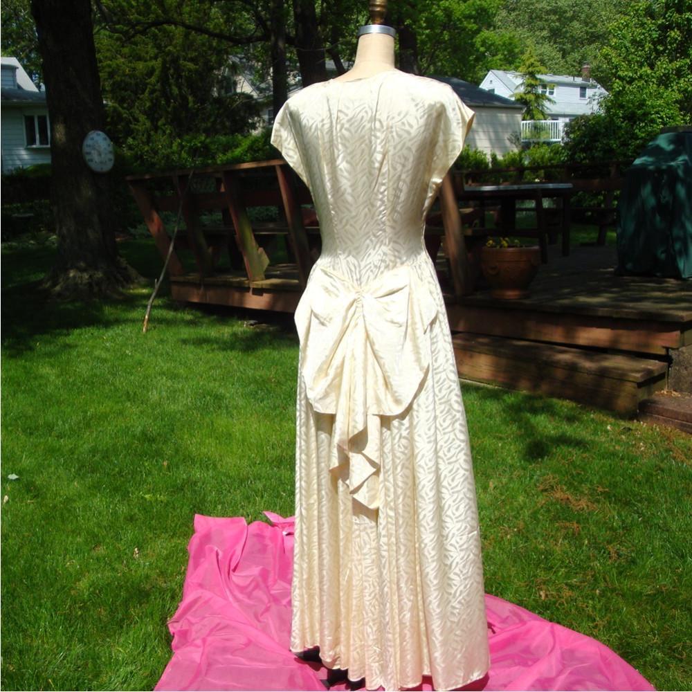 Wedding Gown, Ivory Satin,