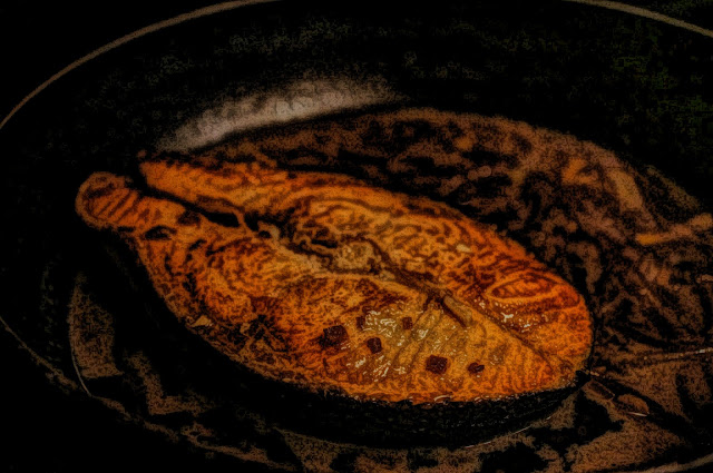 fried salmon free picture