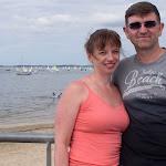 Vera und ich am Strand von Andernos-les-Bains / Вера и я у городского пляжа в Андерно-ле-Бэн