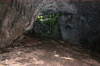 Taken from inside Tkalca cave looking up, into the entrance