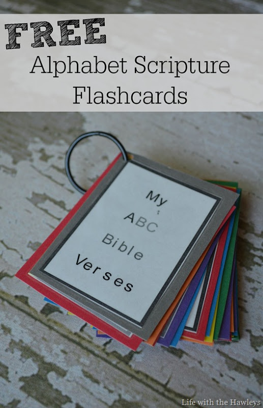 Alphabet Scripture Flashcards