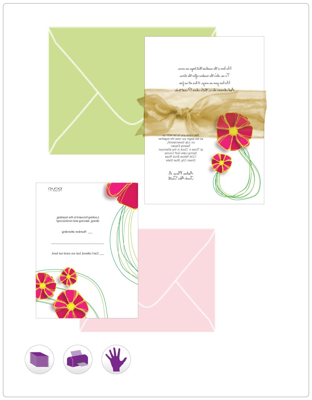 Doodle Flower Invitation   I