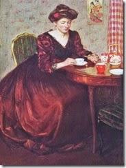 a Richard Edward Miller (American painter, 1875-1943) The Japanese Tea Service 1907