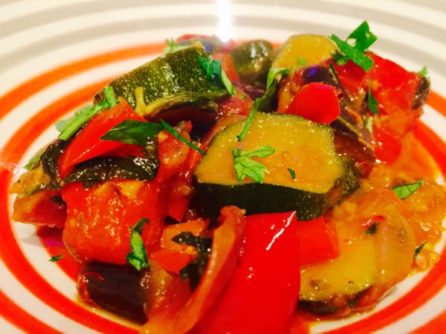 Ratatouille - French vegetable stew with saffron