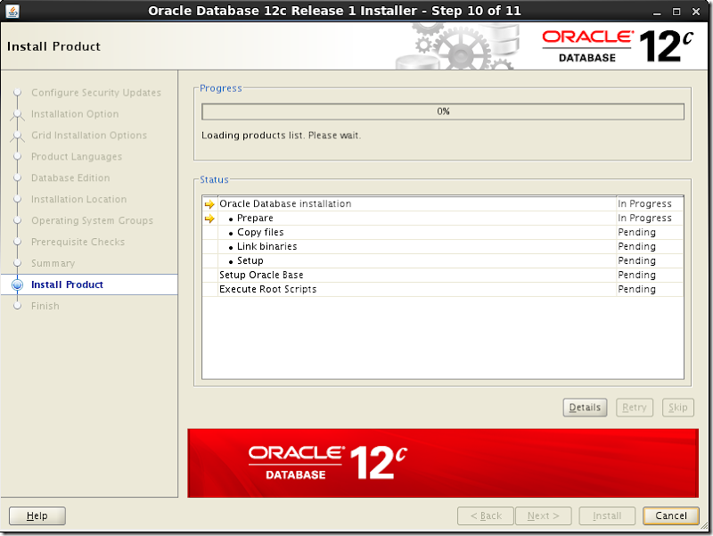 Oracle Database Software Installation 12