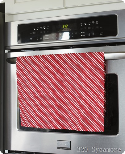 kitchen towel striped