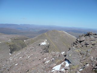 Ridge down from Bidein a Ghlas Thuill with Glas Mheall Mor