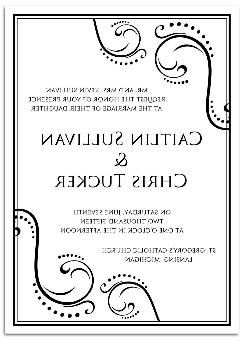wedding invitation black and