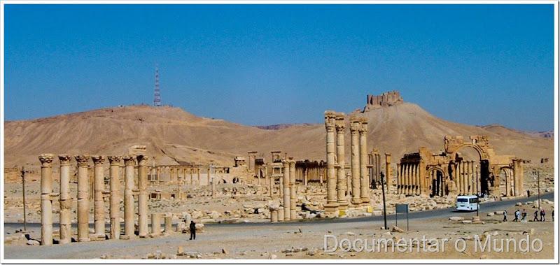 Vista das ruínas de Palmira