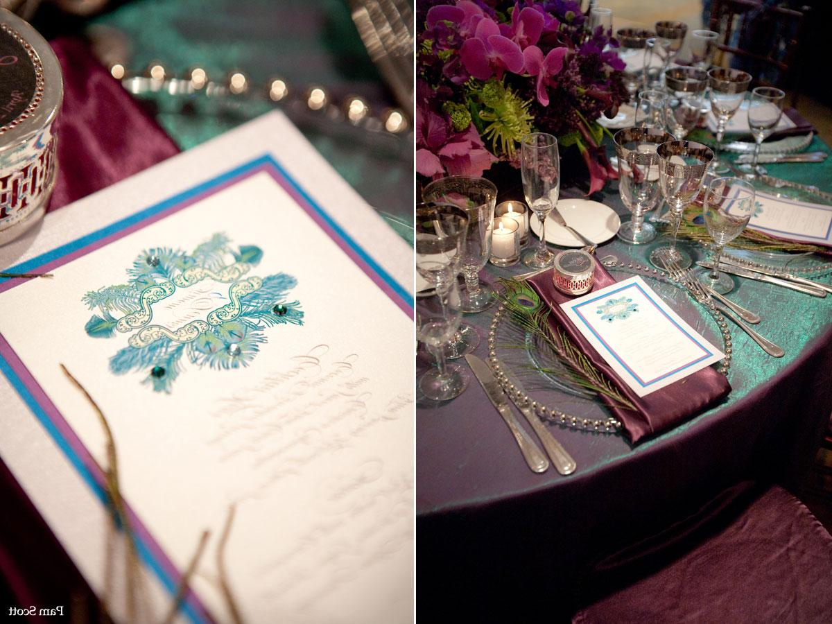 hand painted peacock wedding